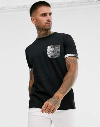 Brave Soul t-shirt with croc animal print