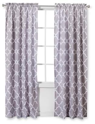 JoJo Designs Sweet Gray & White Trellis Window Panels - Trellis Print