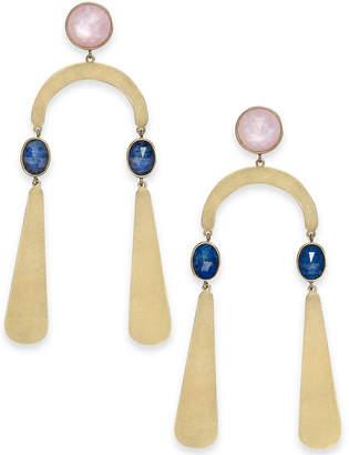 Kate Spade Gold-Tone Multi-Stone Statement Earrings