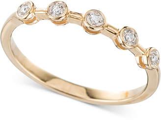 Elsie May Diamond Accent Bezel Ring in 14k Gold