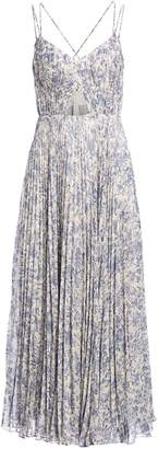 AMUR Strappy Pleated Floral Midi Dress