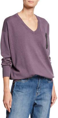 Brunello Cucinelli Two-Ply Cashmere V-Neck Sweater