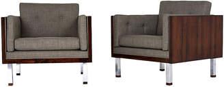 One Kings Lane Vintage Jydsk Mobelvaerk Cube Lounge Chairs - Castle Antiques & Design