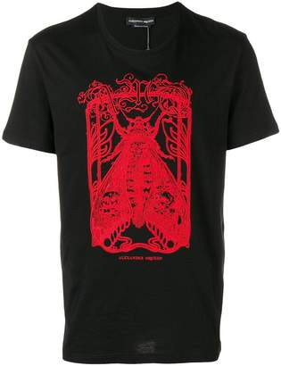Alexander McQueen moth embroidered T-shirt