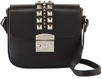 Mario Valentino Valentino By Melodie Studded Leather Crossbody Bag