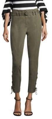 Crosley Scripted Side Lace-Up Buckle Pants