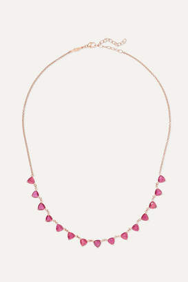 Jacquie Aiche 14-karat Rose Gold Ruby Necklace