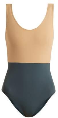 Albus Lumen - Costa Bi Colour Swimsuit - Womens - Multi