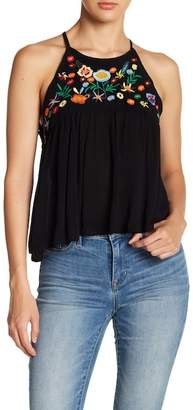 ALLISON NEW YORK Embroidered Swing Tank Top