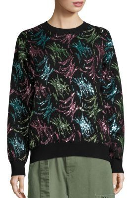 Marc Jacobs Embellished Long Sleeve Pullover $995 thestylecure.com