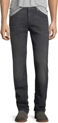 7 For All Mankind Men's Straight-Leg Airweft Denim Jeans, Halide Gray