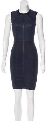 Yigal Azrouel Leather Sheath Dress