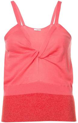 Tome V-neck fitted tank top
