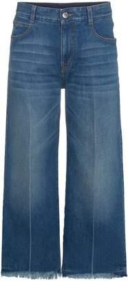 Stella McCartney cropped wide leg jeans