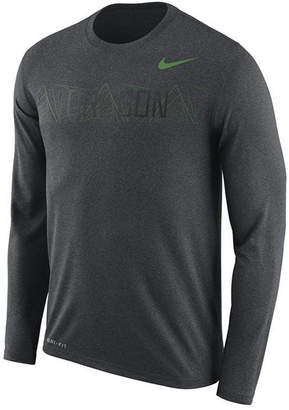Nike Men's Oregon Ducks Legend Sideline Long Sleeve T-Shirt 2018