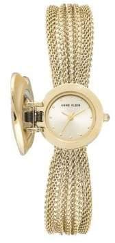 Anne Klein Crystal Heart Analog Bracelet Watch