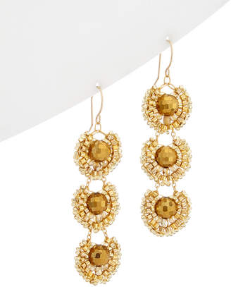 Miguel Ases 18K Plated & 14K Filled Crystal Drop Earrings