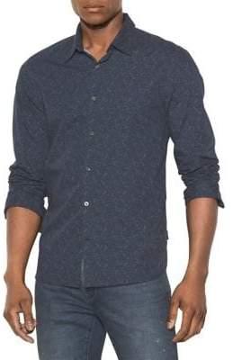 John Varvatos Printed Long-Sleeve Button-Down Shirt