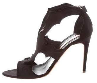 Rupert Sanderson Satin Cutout Sandals