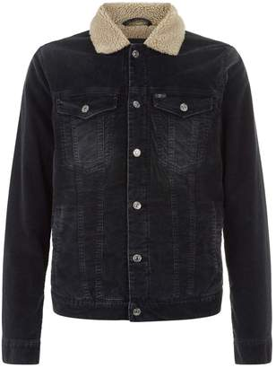 7 For All Mankind Shearling Collar Trucker Jacket
