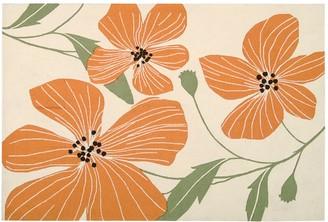 Nourison Fantasy Ivory Floral Rug