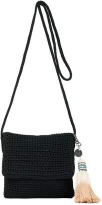 The Sak Costa Mesa Mini Flap Crocheted Crossbody Handbag