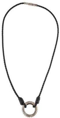 Bottega Veneta Nero Intrecciato Nappa Pendant Necklace