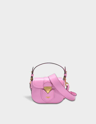 Moschino Hidden Lock Small Shoulder Bag in Pink Calf