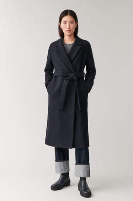 Cos BELTED WOOL COAT