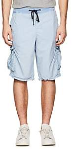 James Perse MEN'S WASHED COTTON POPLIN CARGO SHORTS-BLUE SIZE 4