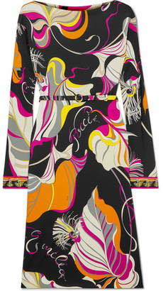 Emilio Pucci Printed Jersey Dress - Black