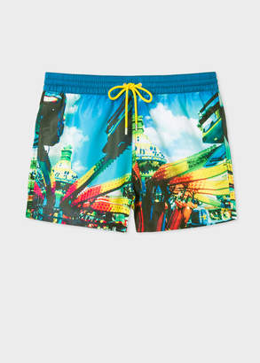 Paul Smith Men's Multi-Coloured 'Brighton Photo' Print Swim Shorts