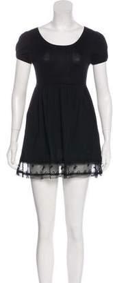 Paul & Joe Sister Lace-Trimmed Mini Dress