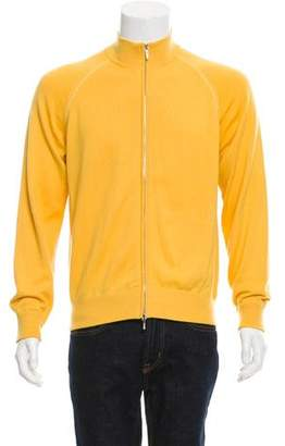 Loro Piana Mock Neck Zip-Up Sweater
