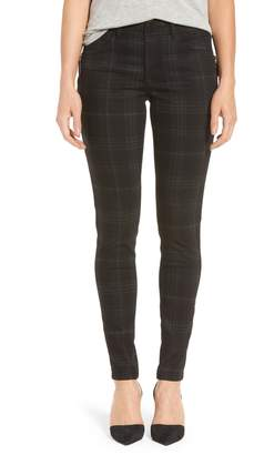 Wit & Wisdom Ab-solution Side Zip Plaid Skinny Pants