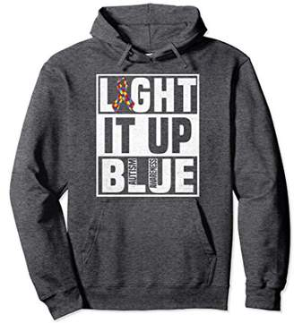 Light It Up Blue For Autism Awareness Pullover Hoodie