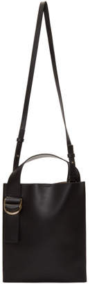 Jil Sander Navy Black Buckle Tote