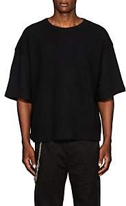 Chapter MEN'S REVERSE COTTON TERRY T-SHIRT - BLACK SIZE S