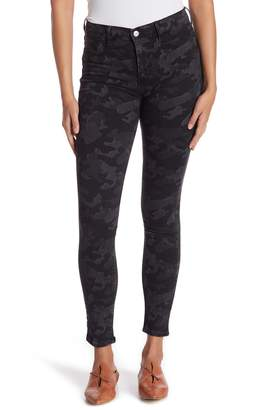 Free People Long and Lean High Waisted Camo Skinny Jeans