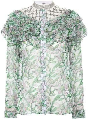 Dodo Bar Or Embellished floral blouse