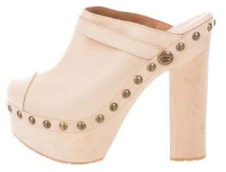 Chanel CC Platform Mules