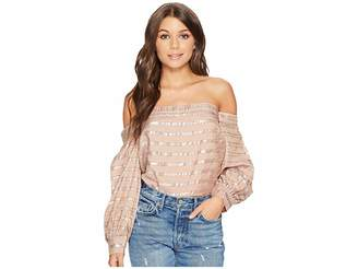 1 STATE 1.STATE Off Shoulder Voluminous Sleeve Blouse Women's Blouse