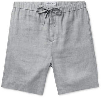 Frescobol Carioca Felipe Mélange Linen And Cotton-Blend Drawstring Shorts