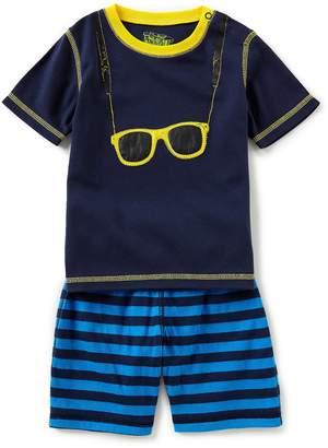 Kapital K Baby Boys 12-24 Months Short-Sleeve Sunglasses Tee & Striped Shorts Set