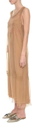 Alberta Ferretti Midi Long Chiffon Dress