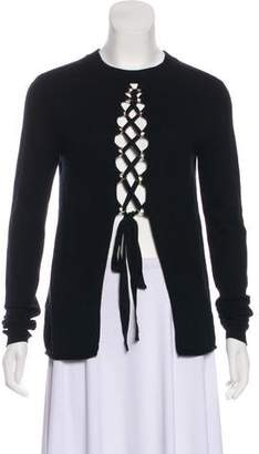 A.L.C. Wool-Cashmere Lace Tie Sweater