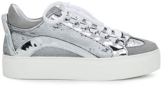 DSQUARED2 platform sequined sneakers
