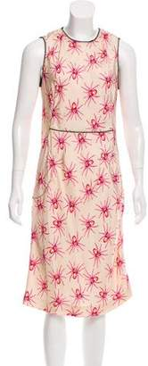 Giles Silk Printed Dress