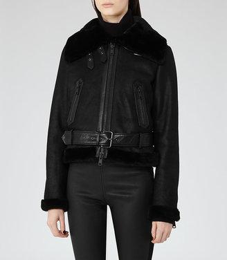 Nell Shearling Biker Jacket $1,495 thestylecure.com