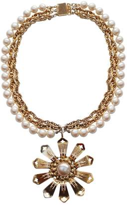 Moschino Vintage Gold Metal Necklace